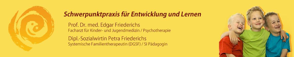 Schwerpunktpraxis für Entwicklung und Lernen von Prof. Dr. Edgar Friederichs Bamberg